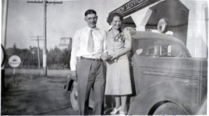 Alvin and Anne Alexander, just married. 1939