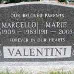 Marcello and Marie Valentini headstone