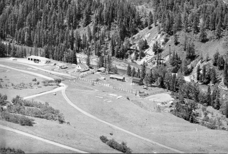 Aerial view of Castle Ranger Station