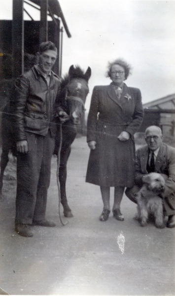 John entertaining his new in-laws (Violet and Alfred Willis) when they came to visit him at Frith Manor Farm.