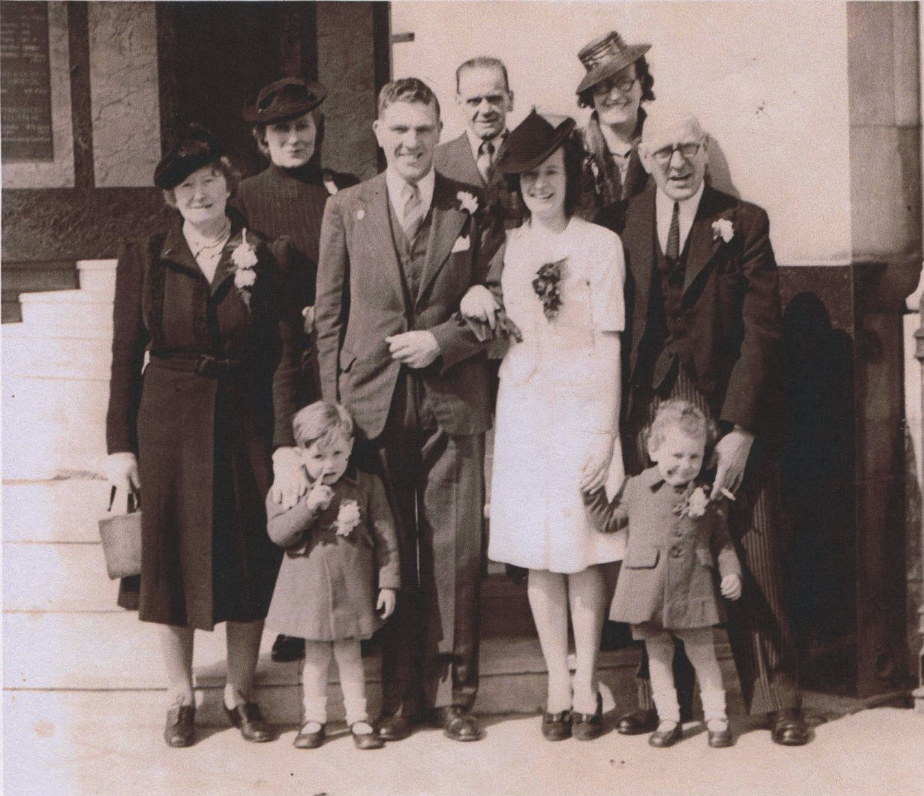 John and Kathleen's wedding, April 6, 1946