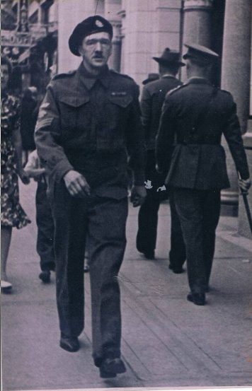Quartermaster Sergeant William Elliott in Calgary, Alberta, 1944 or 1945.